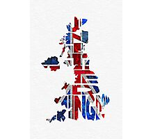 United Kingdom Typographic Kingdom Photographic Print