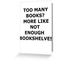 bookaholic Greeting Card