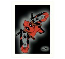 Deadpool Falling  Art Print