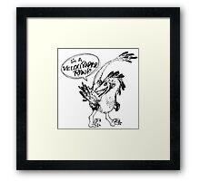 Velociraptor, Rawr Framed Print