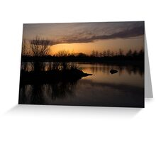 Sundown with Bare Branches Greeting Card