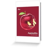 Aa - Appladillo // Half Armadillo, Half Apple Greeting Card