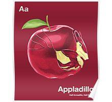 Aa - Appladillo // Half Armadillo, Half Apple Poster