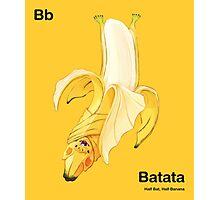 Bb - Batata // Half Bat, Half Banana Photographic Print