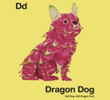 Dd - Dragon Dog // Half Dog, Half Dragon Fruit Kids Clothes