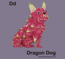 Dd - Dragon Dog // Half Dog, Half Dragon Fruit Kids Clothes