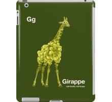 Gg - Girappe // Half Giraffe, Half Grape iPad Case/Skin