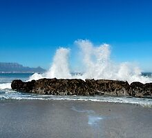 Waving at Table Mountain by SeeOneSoul