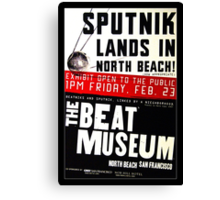 Sputnik Beat Poster Canvas Print