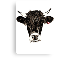 swiss-cow Canvas Print