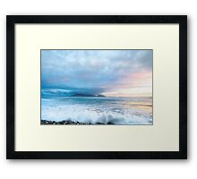 Sunset Beach Beach Sunset Framed Print
