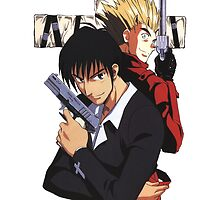 Vash and Wolfwood by BaiLong