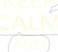 Keep Calm Paper Airplane 21e Sticker