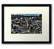 Newcastle Quayside Rooftops Framed Print