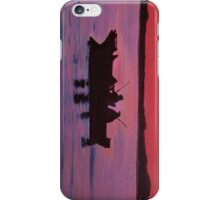 Fishing in the sunset iPhone Case/Skin