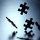 Falling jigsaw pieces by sanham
