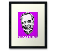 Team Nige Framed Print