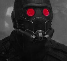 Star-Lord Mask Black and White by Themaninthefez