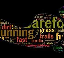 Barefoot running word cloud by VorisDesigns