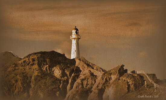 The Lighthouse at Castlepoint by Linda Cutche