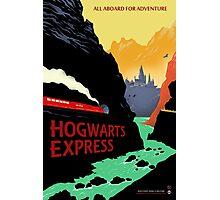 Hogwarts Express Retro Travel Poster Photographic Print