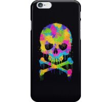 Abstract Trendy Graffiti Watercolor Skull  iPhone Case/Skin
