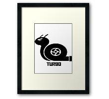 Turbo Snail Framed Print