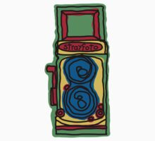 Bold and Colorful Camera Design Kids Clothes