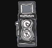Bold, Black and White Camera Line Drawing by strayfoto