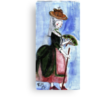 Roccoco Lady Canvas Print