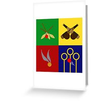 Quidditch Positions Greeting Card