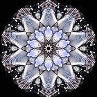 Chrome Motorbike Engine Kaleidoscope  by fantasytripp