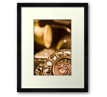 the phone Framed Print