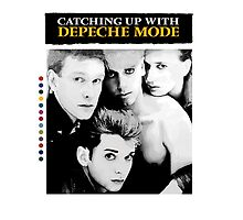 Depeche Mode : Catching Up With ... - Paint B&W - With name by Luc Lambert