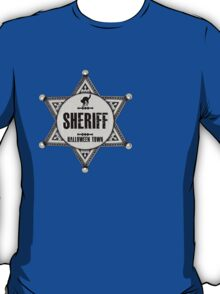 Sheriff Of Halloween Town Badge Costume T-Shirt