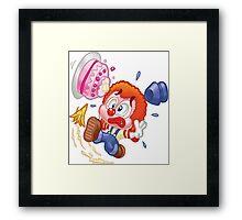 HeinyR- Clown Tripping Over Framed Print