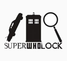 SuperWhoLock - Impala, T.A.R.D.I.S & Magnifying Glass Kids Clothes