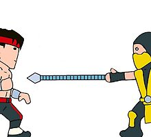 'Get Over Here!'  Fatal Kombat - (Wee-Guys) by Steve  Ward