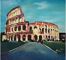 Monumental Coliseum in Rome Italy Photographic Print