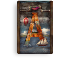 Steampunk - Alphabet - A is for Adventure Canvas Print