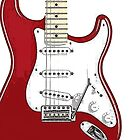 Fender Stratocaster RED by Matterotica