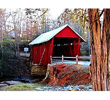 *Campbell's Covered Bridge* Photographic Print