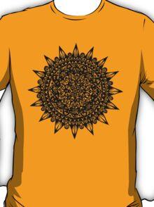 Black Star Mandala Design T-Shirt