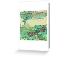 Dragonfly pattern Greeting Card