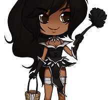 Nidalee Chibi Sticker by hizzacked