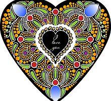 I love you (black heart) by amekamura