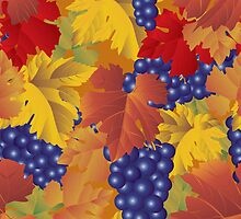 Grapes seamless pattern by maystra