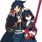 Ryuko and Simon: Gurren Lagann x Kill la Kill by ViralDrone