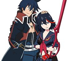 Ryuko and Simon: Gurren Lagann x Kill la Kill by ViralDrone