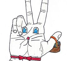 Easter Bunny Fingers by UniversalSocks